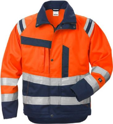 Fristads Ladies High Vis Jacket 4129 CL 3 PLU (Hi Vis Orange/Navy)